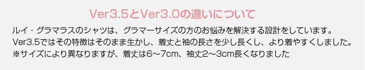 グラマーサイズ専用 シャツVer3.0